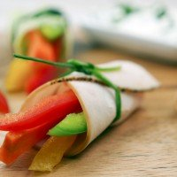 Low Carb vegetable rolls with chive quark