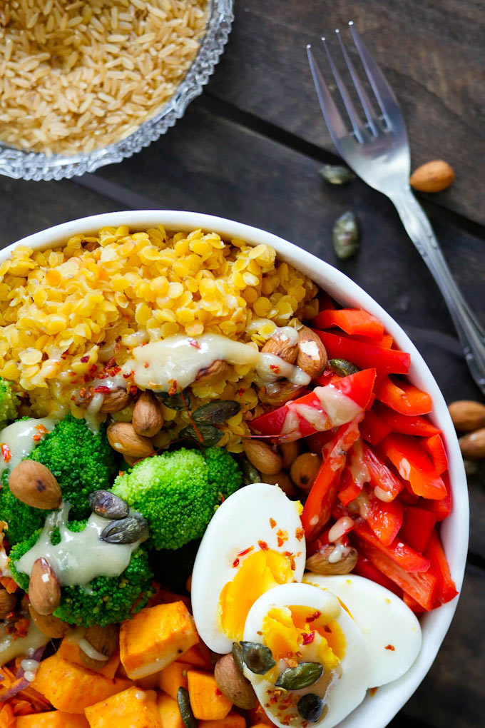vegetarische Superfood Buddha Bowl