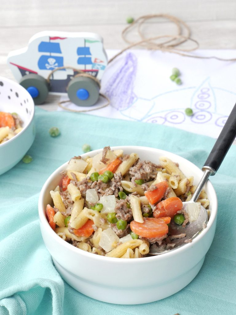"One Pot Pasta ""Vikings"" - a fast one pot dish for kids"