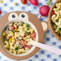 Pasta salad for children (with 5-minute mayonnaise without egg)